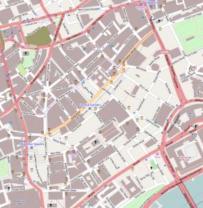 Kaart Covent Garden, Londen