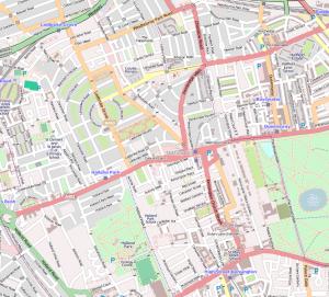 Kaart van Notting Hill, Londen