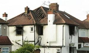 Brand in huis Londen Neasden