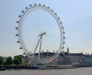 Het Londense reuzenrad London Eye.