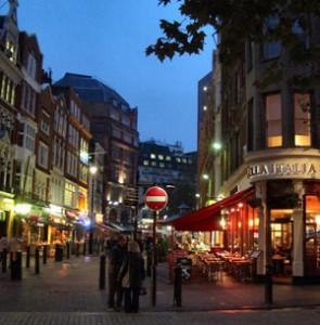 Londense wijk Soho in Londen