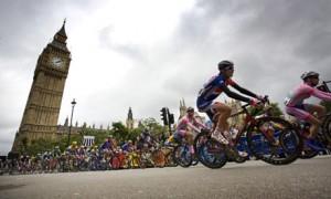 Wielrenners Tour of Britain Londen