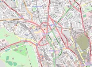Kaart van Camden, wijk in Londen.
