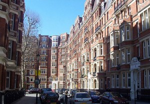 Londen wijk Kensington and Chelsea
