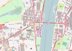 De ligging van het Palace of Westminster, Londen