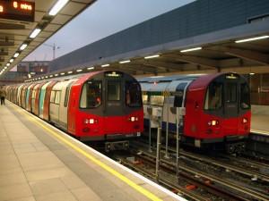 Londen Olympische spelen metro subway tube