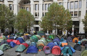 Londen occupy-kamp st pauls cathedral