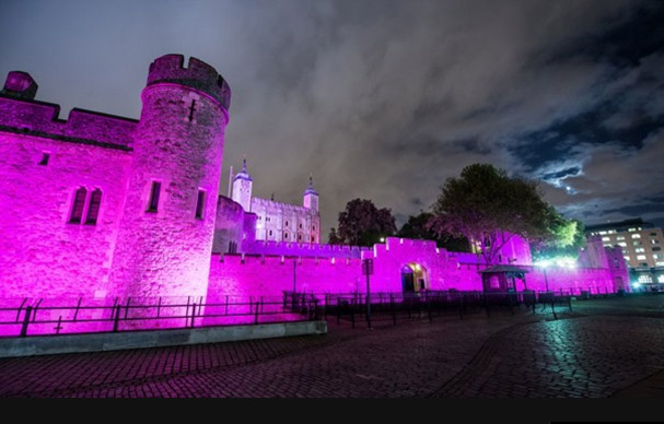The Tower of Londen Pink Ribbon