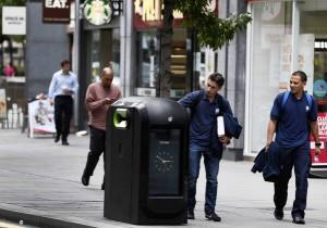 Slimme vuilnisbak in Londen